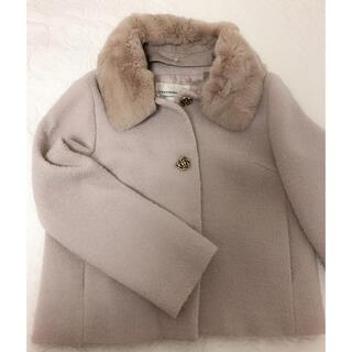 ストロベリーフィールズ(STRAWBERRY-FIELDS)のストロベリーフィールズ ファー襟コート(毛皮/ファーコート)