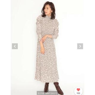 スナイデル(snidel)の♡美品♡ snidel パフスリーブワンピース(ロングワンピース/マキシワンピース)