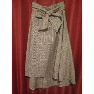 【中古】ロングテールスカート フィッシュテールスカート チェック(ひざ丈スカート)