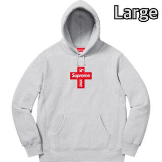 シュプリーム(Supreme)のSupreme Cross Box Logo Hooded Grey large(パーカー)