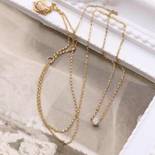 アーカー(AHKAH)のアーカー ピュア ダイヤ ネックレス k18(ネックレス)