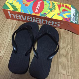 ハワイアナス(havaianas)のハワイアナス♡ブラックビーチサンダル(ビーチサンダル)