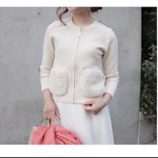 エムプルミエ(M-premier)のエムプルミエ knit blouson size36 人気完売商品(ブルゾン)