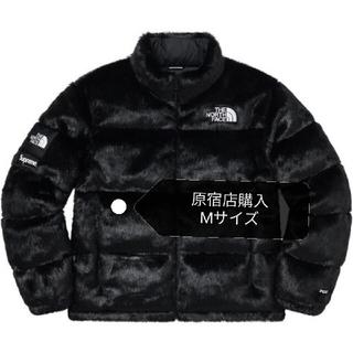 シュプリーム(Supreme)の【黒M】supreme Faux Fur Nuptse Jacket(ダウンジャケット)