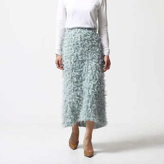 トゥモローランド(TOMORROWLAND)のシートーキョーSHE Tokyo Odile Feather Mintスカート(ロングスカート)