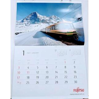 フジツウ(富士通)の富士通 2021年 世界の車窓から カレンダー(カレンダー/スケジュール)