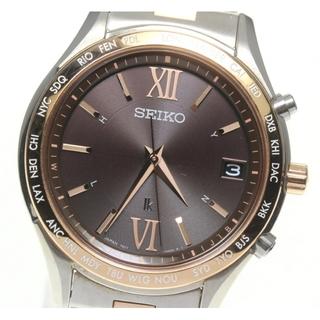 セイコー(SEIKO)の☆美品 セイコー ルキア デイト SSVH028 ソーラー電波 メンズ 【中古】(腕時計(アナログ))