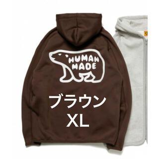 アベイシングエイプ(A BATHING APE)のHUMAN MADE パーカー 茶 XL 新品(パーカー)