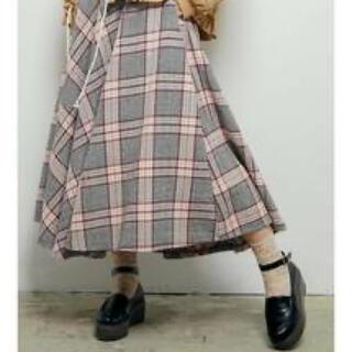 メリージェニー(merry jenny)のmerry jenny  チェック サーキュラースカート(ロングスカート)