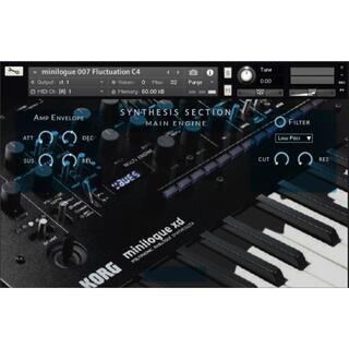 KORG minilogue シンセサイザー サンプリング KONTAKT用音源(ソフトウェア音源)