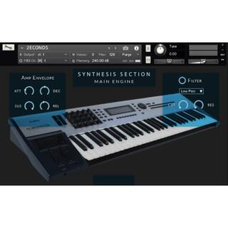 KAWAI シンセサイザー K5000 サンプリング KONTAKT用音源(ソフトウェア音源)