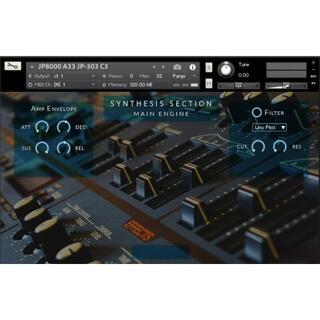 ROLAND JP8000 シンセサイザー サンプリング KONTAKT用音源 (ソフトウェア音源)