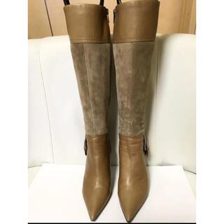 ダイアナ(DIANA)のダイアナ ロングブーツ 異素材 24.5cm(ブーツ)