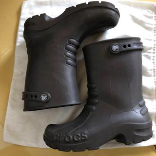 クロックス(crocs)のクロックス 23センチ こげ茶 レインブーツ(長靴/レインシューズ)