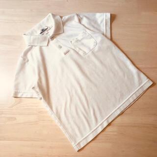 男の子120cm白半袖ポロシャツ通学用冠婚葬祭(Tシャツ/カットソー)