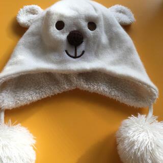 ☆ニット帽 くま ポンポン☆(帽子)