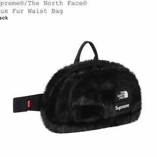シュプリーム(Supreme)の黒 supreme northface faux fur waist bag (ウエストポーチ)
