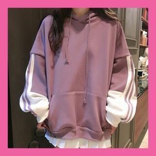 パーカー オーバーサイズ 韓国ファッション XL(パーカー)