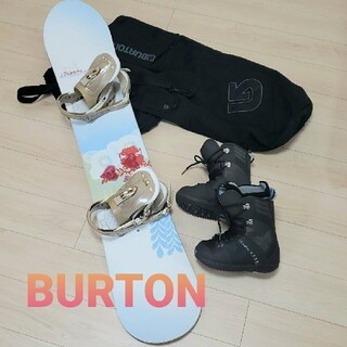 バートン(BURTON)のバートン スノーボード 板 ビンディング ブーツ ケース 4点セット レディース(ボード)
