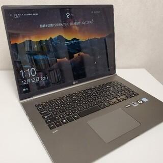 エルジーエレクトロニクス(LG Electronics)のLG gram 17Z990-VA56J 17インチ超軽量ノートPCテンキー付(ノートPC)