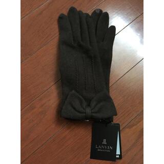 ランバンコレクション(LANVIN COLLECTION)のLANVIN COLLECTION 手袋 グローブ リボン カシミヤ(手袋)
