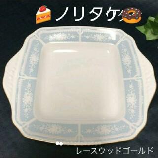 ノリタケ(Noritake)の《新品未使用》ノリタケ:レースウッドゴールド:耳付きスクエアプレート 大皿(食器)
