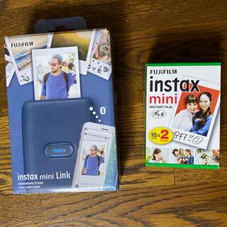フジフイルム(富士フイルム)のInstax mini Link DARK DENIM チェキ 新品未開封(フィルムカメラ)