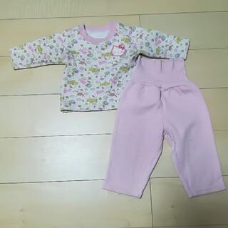 サンリオ(サンリオ)のキティ 女の子 腹巻き付き パジャマ 80(パジャマ)