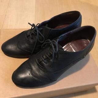 サヴァサヴァ(cavacava)のサヴァサヴァ レースアップシューズ 黒 本革(ローファー/革靴)