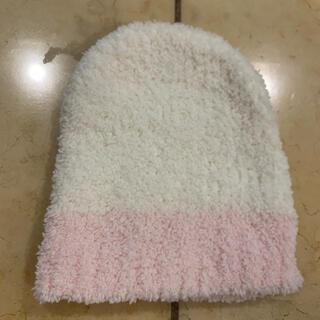 カシウエア(kashwere)のカシウエア  ベビー 帽子 ホワイト×ピンク(帽子)
