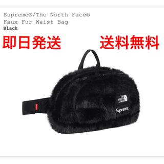 シュプリーム(Supreme)の[黒]Supreme/The North Face  Fur waist bag(ウエストポーチ)