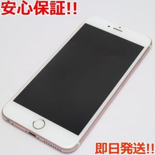 アイフォーン(iPhone)の美品 SIMフリー iPhone6S PLUS 128GB ローズゴールド (スマートフォン本体)