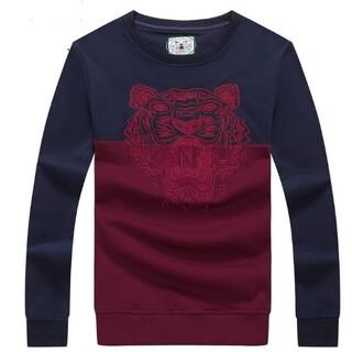 ケンゾー(KENZO)の人気新品 kenzo メンズ 無地 コットン 長袖 トップス ゆったりめ (Tシャツ/カットソー(七分/長袖))