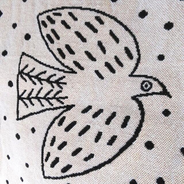 quatre saisons(キャトルセゾン)の新品 松尾ミユキ✨鳥 水玉 バード ゴブラン織り トートバッグ 生成り ベージュ レディースのバッグ(トートバッグ)の商品写真