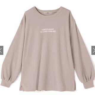 グレイル(GRL)のGRL フロント刺繍ロゴロンT くすみピンク(Tシャツ/カットソー(七分/長袖))
