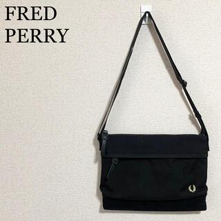 フレッドペリー(FRED PERRY)の★未使用★フレッドペリー サコッシュ 黒 ショルダーバッグ ロゴマーク (ショルダーバッグ)