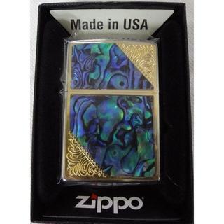 ジッポー(ZIPPO)の新品 ZIPPO 貝貼りプレート 2GW-SHELL 定価7480円(タバコグッズ)