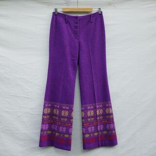グリモワール(Grimoire)のVintage 70's Embroidered-hem flare pants(カジュアルパンツ)
