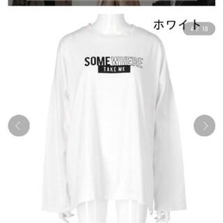 アナップ(ANAP)のANAPkids新品ロンTホワイト(Tシャツ(長袖/七分))