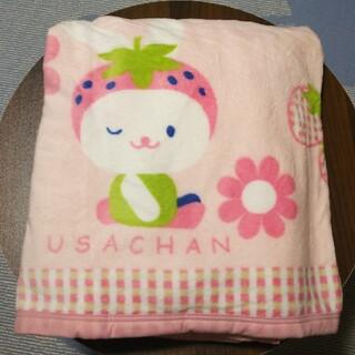 ニトリ(ニトリ)の値下げ【新品未使用】マイクロファイバー毛布 (ウサチャン)(毛布)