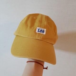 Lee キャップ レディース からし色 57~59cm 綿100% マスタード色(キャップ)