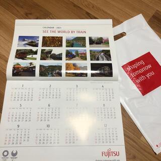 フジツウ(富士通)の世界の車窓から カレンダー 2021(カレンダー/スケジュール)