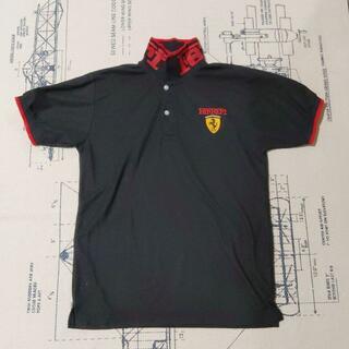フェラーリ(Ferrari)のFerrari ポロシャツ ブラック フェラーリ 古着 メンズ M (ポロシャツ)