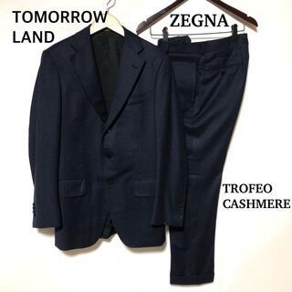 トゥモローランド(TOMORROWLAND)のトゥモローランド ゼニア トロフェオ カシミヤ 段返り3B スーツ 紺(セットアップ)