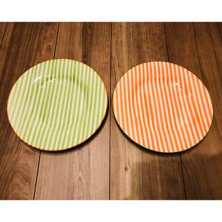 ザラホーム(ZARA HOME)の未使用✨ZARA HOME ストライプ柄ディッシュ 2枚(食器)