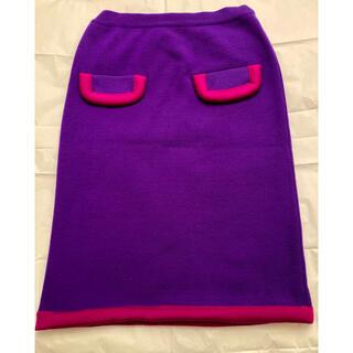 セリーヌ(celine)のクリスマス セール セリーヌ ニットスカート 綺麗なお色です(ひざ丈スカート)