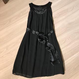 トゥモローランド(TOMORROWLAND)のTOMORROWLAND ブラックワンピース ドレス(ミディアムドレス)