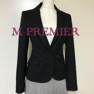 エムプルミエ(M-premier)の日本製♦︎ウール100%♦︎M-PREMIER ストライプテーラードジャケット(テーラードジャケット)
