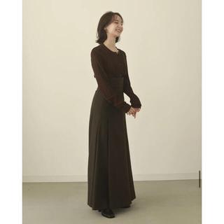 pleats flare long skirt (ロングスカート)