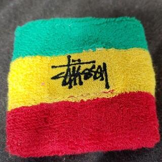 ステューシー(STUSSY)の希少 90S stussy リストバンド ラスタカラー ステゥーシー(バングル/リストバンド)